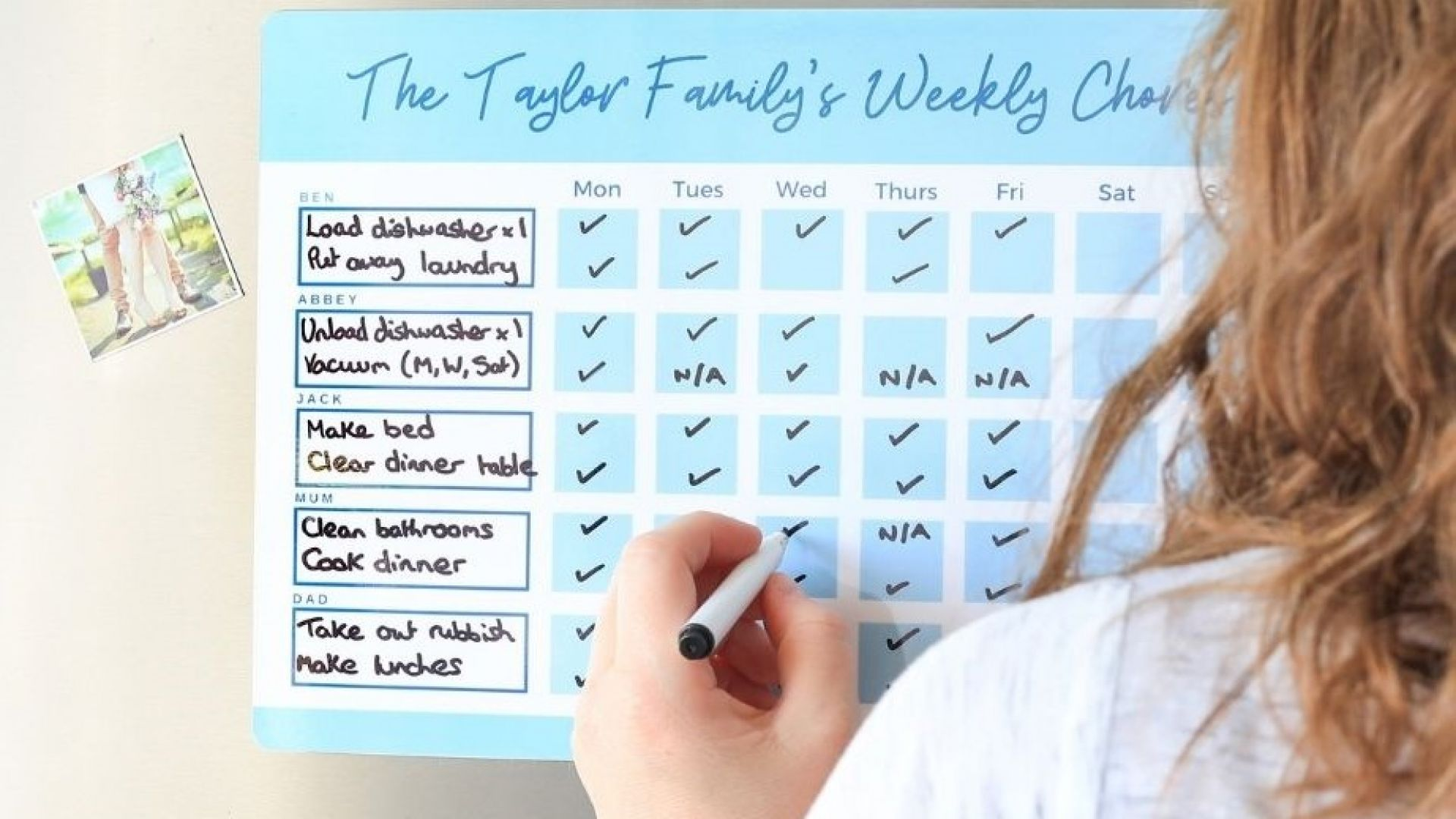 How to use a  Family Chore Chart