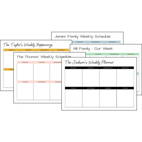 Weekly Planner Personalised | Weekly Schedule