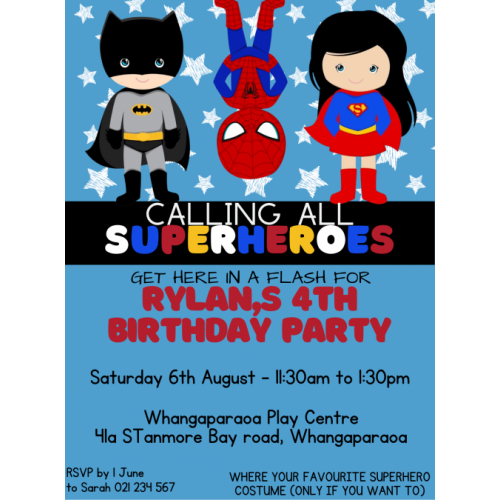 Superhero Party | Magnetic Invite