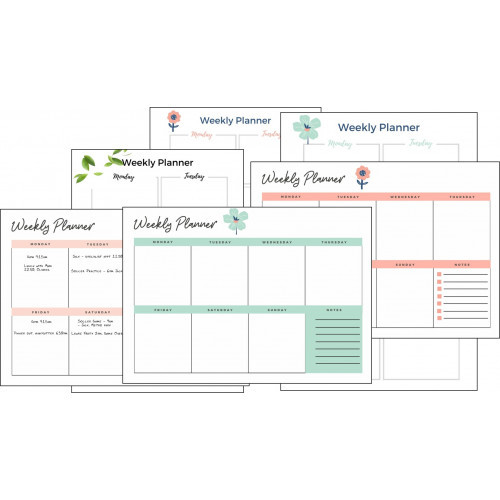 Family weekly planner