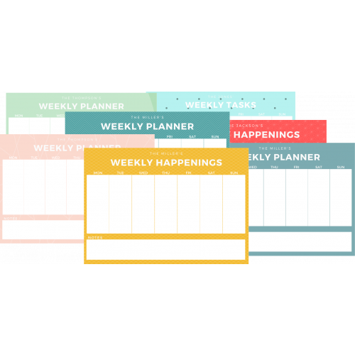 fridge weekly planner |  weekly planner board | Magnets NZ