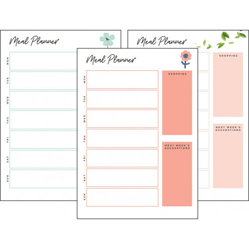 Meal planner whiteboard
